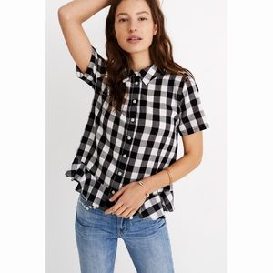 Madewell Gingham Plaid Button Down